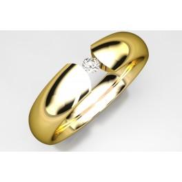 Alianza de Oro con Brillante 81328