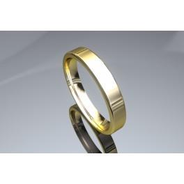 Alianza Cuadrada Oro Amarillo