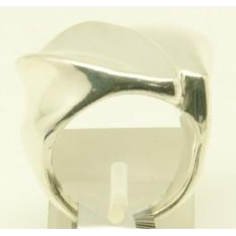 Sortija de Plata de Doble labio asimétrico