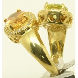 Sortija de Plata y bañada en Oro Amarillo